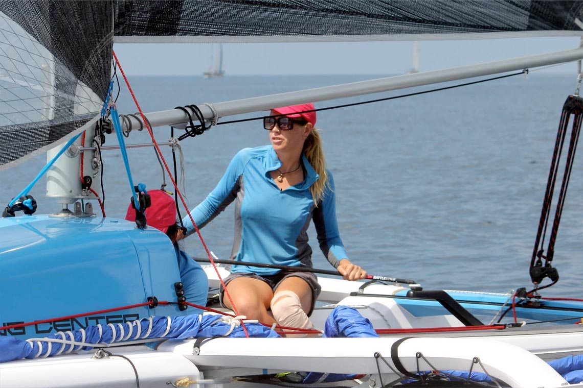 Liz Schoch Racing Pulse from Sail Escapes