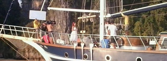 filming of the bachelorette tv show on Sail Escapes yacht