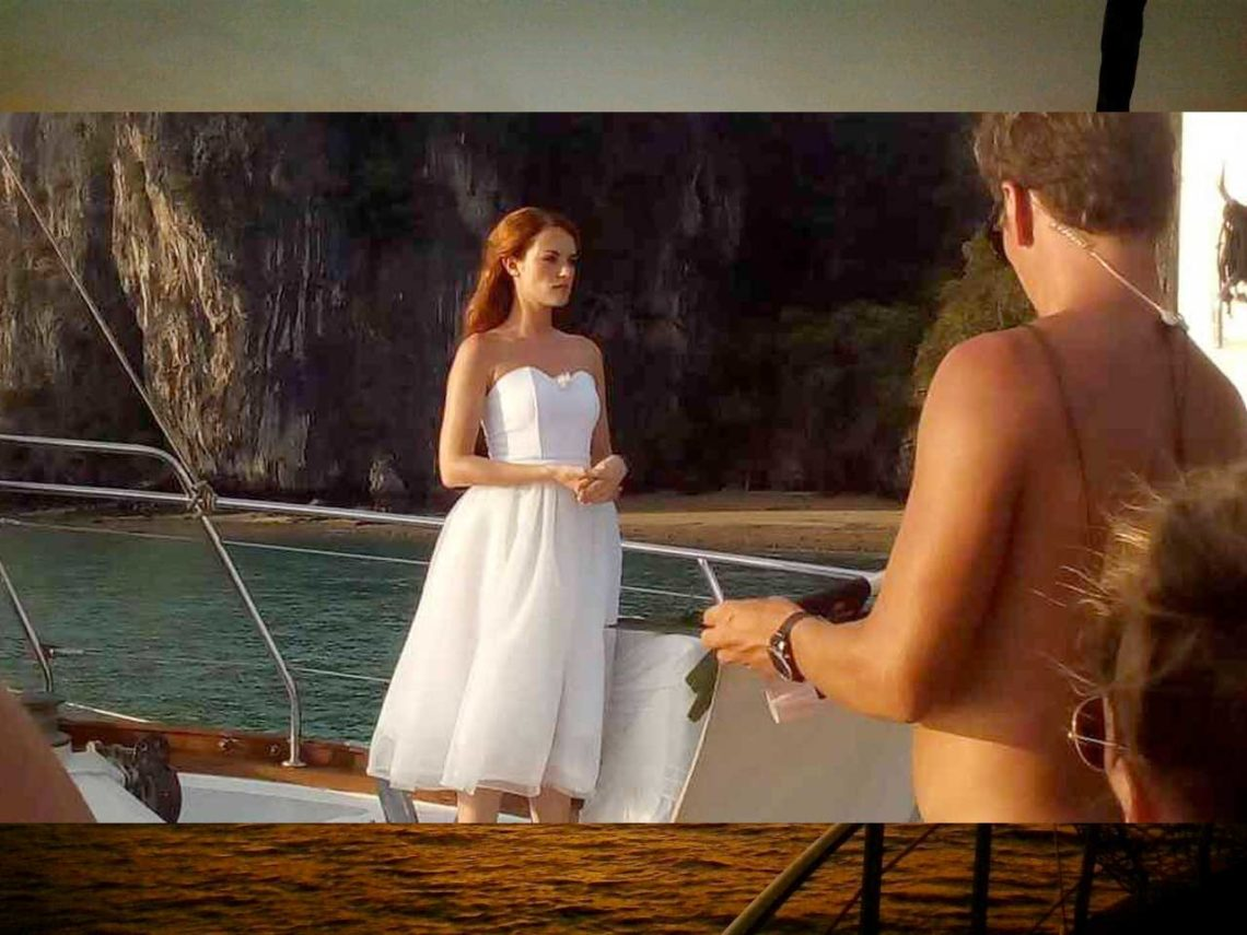 filming the bachelorette tv show on Sail Escapes chartered boat