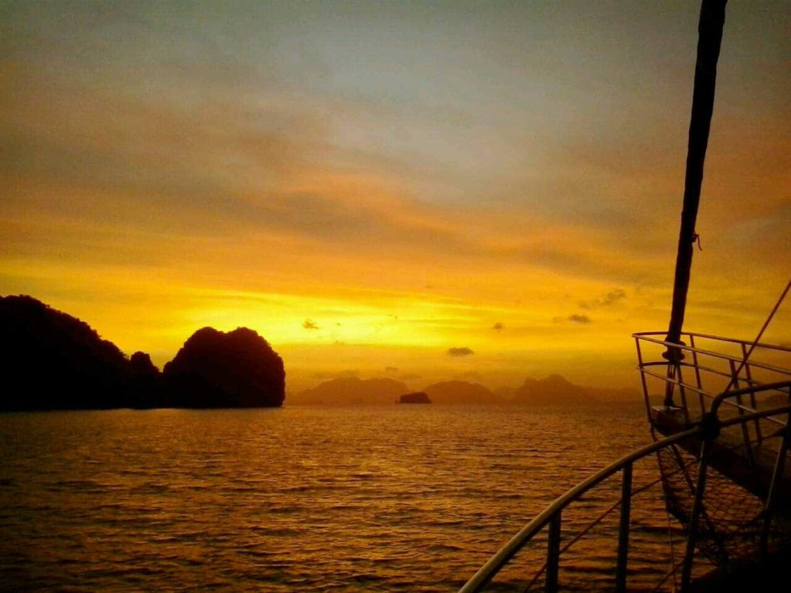 Bachelorette TV Show in Phang Nga Bay Phuket filming on Sail Escapes yacht