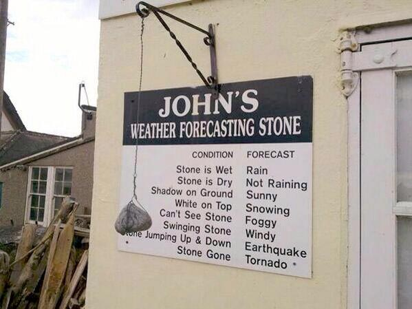 Johns weather forecasting stone at Sail Escapes 2