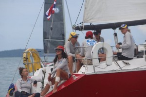 Phuket race week Ladies Team boat from Sail Escapes