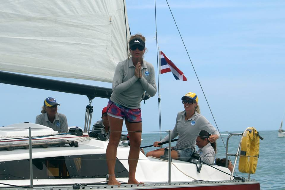 Phuket race week Ladies Team rental boat from Sail Escapes