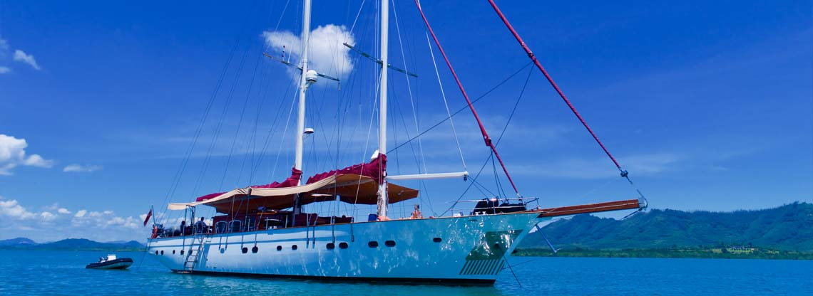 Sailescapes Phuket Orient Pearl Classic Yacht Charter Main On Fire In