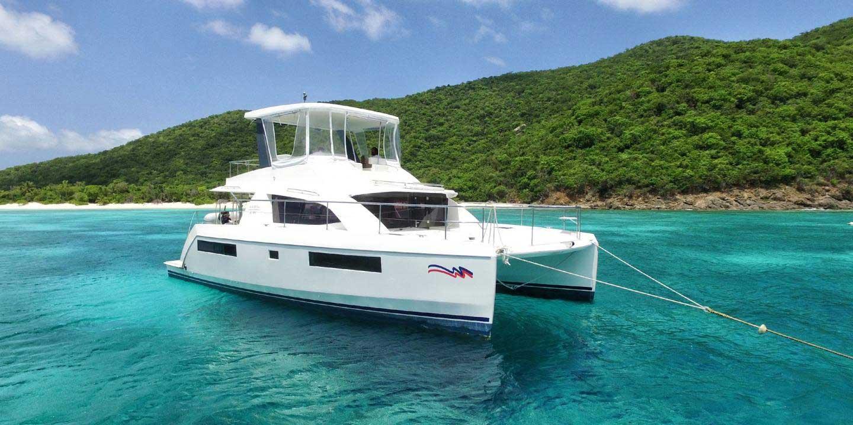 Sunsail 43 power catamaran sailescapes for By the cabin catamaran charters